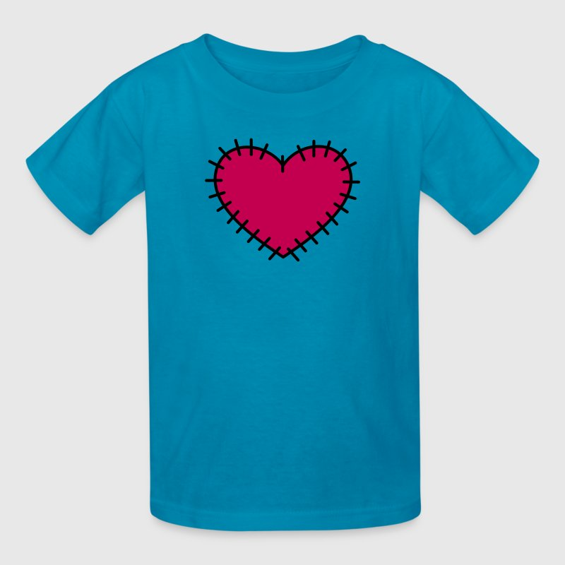 love heart with stitches - Kids' T-Shirt