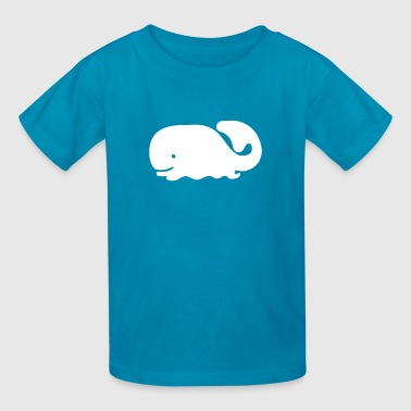 Cartoon Ocean Whale - Kids' T-Shirt