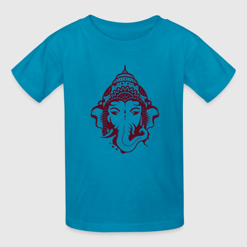 A portrait of the elephant god Ganesha - Kids' T-Shirt