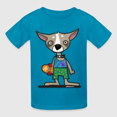 Skating Chihuahua Dog - Kids' T-Shirt