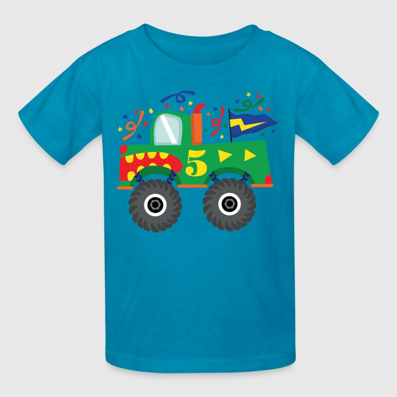 5th Birthday Monster Truck Party - Kids' T-Shirt