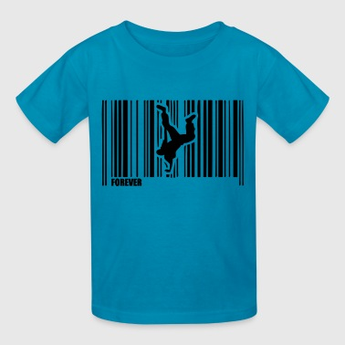 barcode breakdancing hip hop dance 1 - Kids' T-Shirt