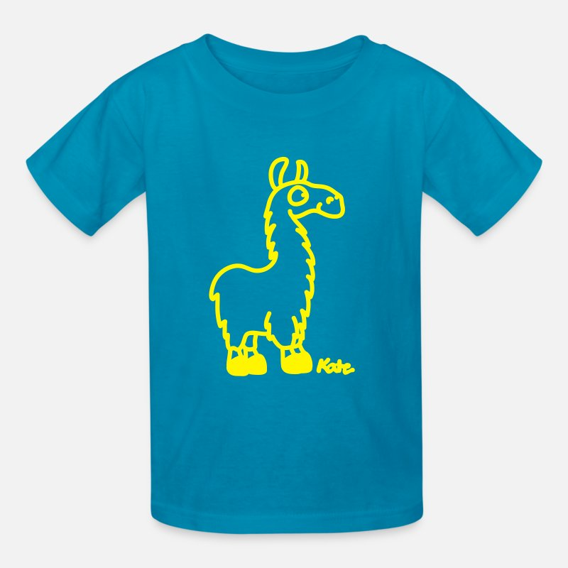 Chile T-Shirts - Lama - Kids' T-Shirt turquoise