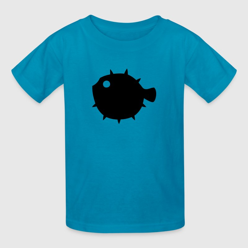 Pufferfish Silhouette - Kids' T-Shirt