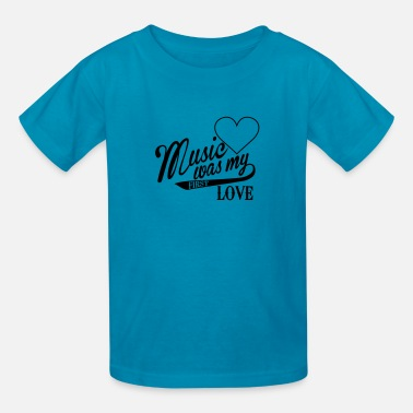 My First Party music was my first love - Kids' T-Shirt