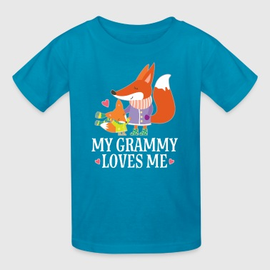 My Grammy Loves Me Grammy Loves Me Fox Grandchild - Kids' T-Shirt