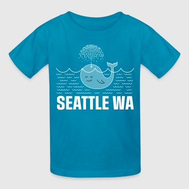 Seattle Washington Whale - Kids' T-Shirt