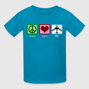 Peace Love Fly Planes - Kids' T-Shirt