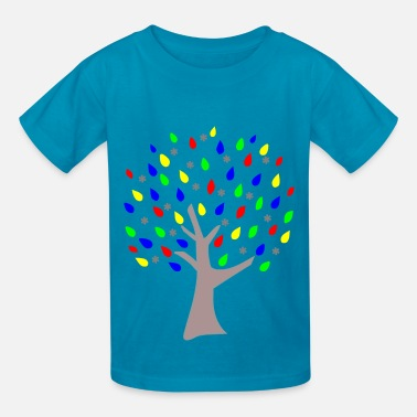 Primary Memory Tree Primary Colors - Kids' T-Shirt