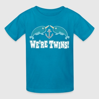 Twins Narwhal Whales - Kids' T-Shirt