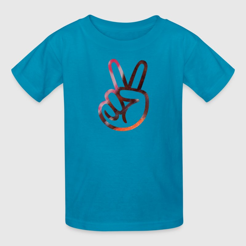artTS collage art PEACE SIGN FINGERS pinkz - Kids' T-Shirt