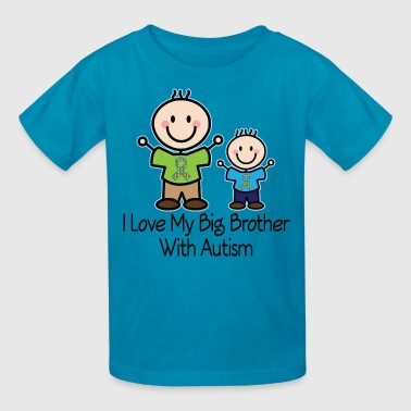 I Love My Brother With Autism Autism Awareness Big Brother - Kids' T-Shirt