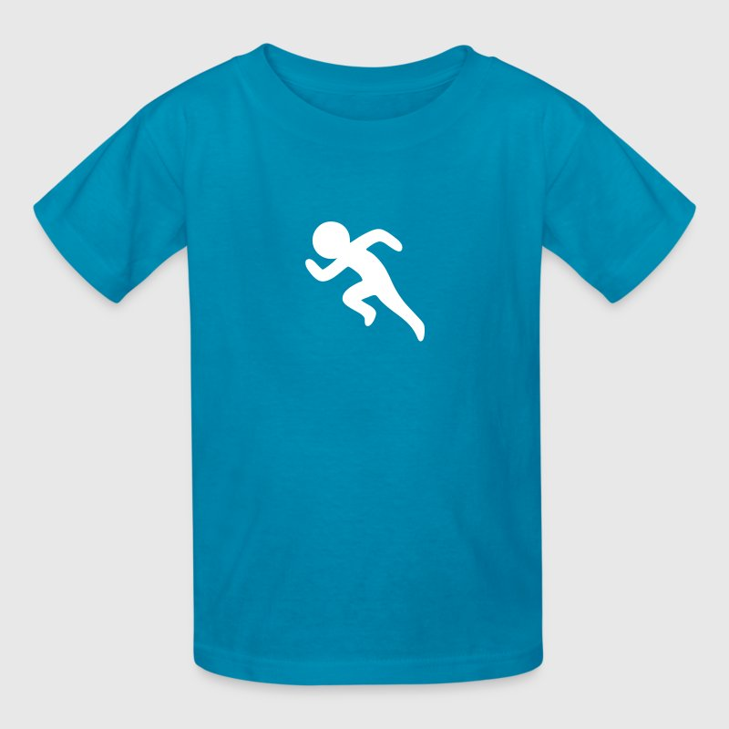 Sprinting / Running Stickman - Kids' T-Shirt