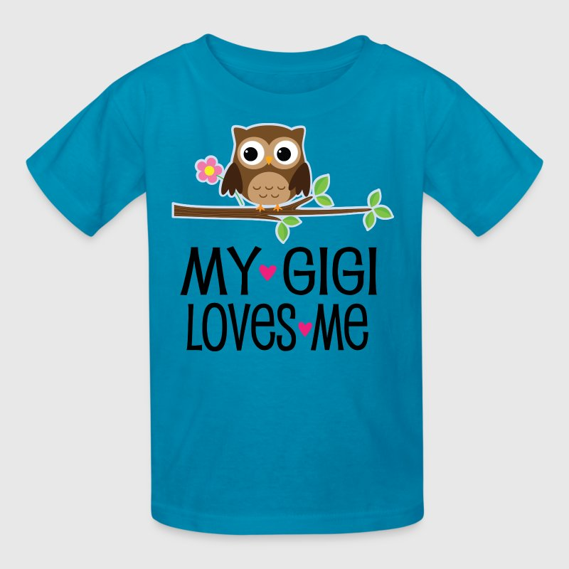 Gigi Loves Me Grandchild Owl - Kids' T-Shirt