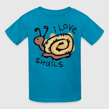 I Love Snails - Kids' T-Shirt