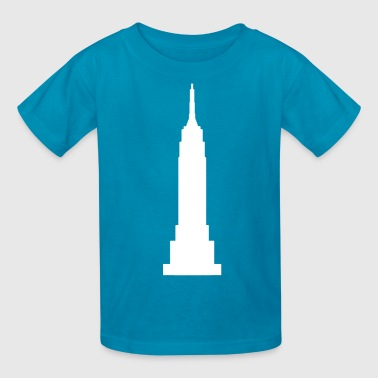 Empire State Building White  - Kids' T-Shirt