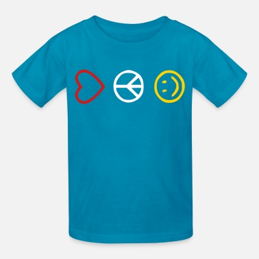 Love Peace Happy Love Peace Happiness - Kids' T-Shirt