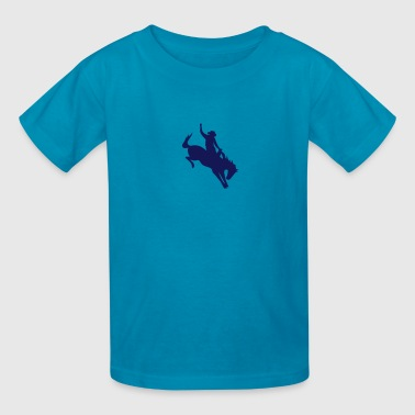 Rodeo Riding on a wild horse - Kids' T-Shirt