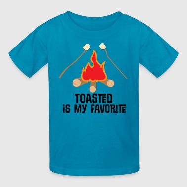 Marshmallow Design Camping Toasted Marshmallows Campfire - Kids' T-Shirt