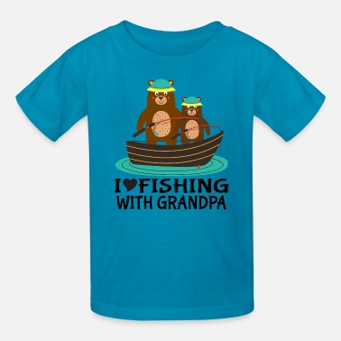 Grandpa Kids Fishing with Grandpa Kids - Kids' T-Shirt