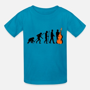 Double Bass evolution_double_bass_11_2016_2c03 - Kids' T-Shirt