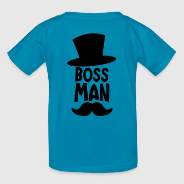 BOSS MAN moustache - Kids' T-Shirt