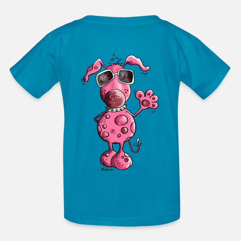 Party T-Shirts - Pink Dog - Kids' T-Shirt turquoise