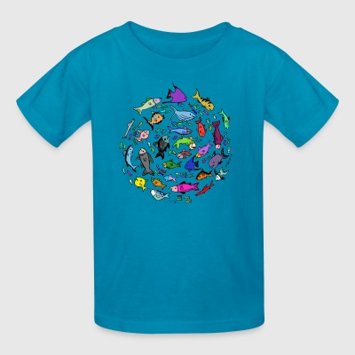 A Swirl of Fish - Kids' T-Shirt