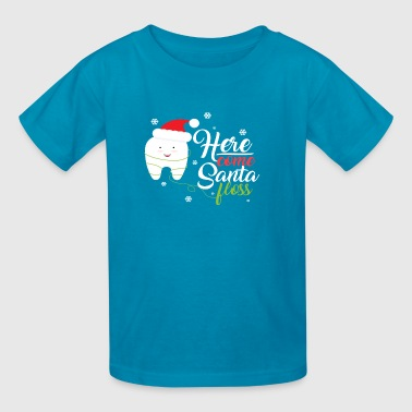 Christmas Santa Floss Dental Hygienists Dentist Gi - Kids' T-Shirt