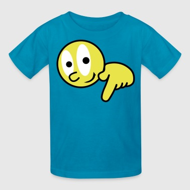 LOOK BIG PENIS ! hand pointing down  - Kids' T-Shirt