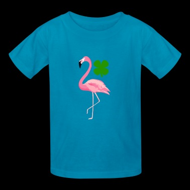 Happy St Patricks Day Flamingo Funny Irish - Kids' T-Shirt
