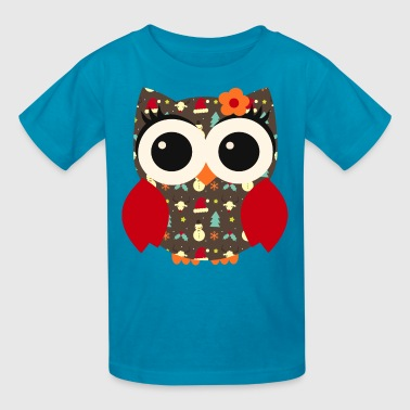 Owl X-mas - Kids' T-Shirt