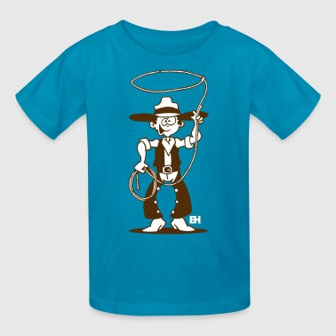 Cowboy with a lasso - Kids' T-Shirt