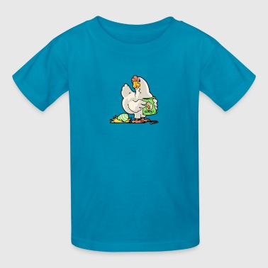 chicken chick poultry easter egg - Kids' T-Shirt
