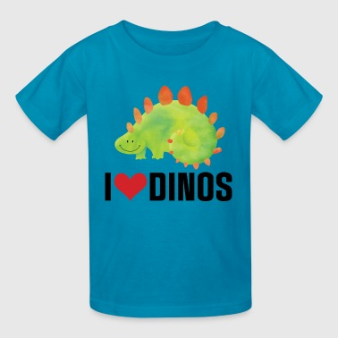 Dinosaur I Love Dinos - Kids' T-Shirt