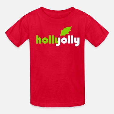 Holly Holly Jolly Vector - Kids' T-Shirt