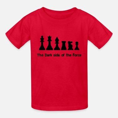Chess The dark side of the Force, chess, pawns - Kids' T-Shirt