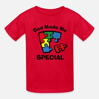 Autism Autism God Made Me Special - Kids' T-Shirt