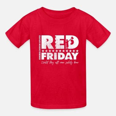 Military RED Friday Flag Wave - Kids' T-Shirt