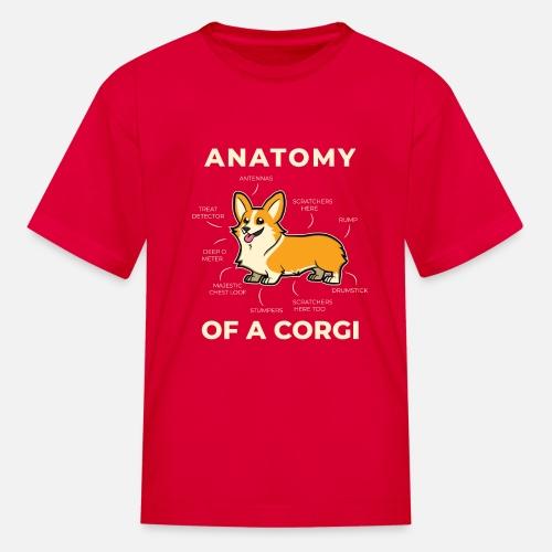 a4efa58bffc Funny Corgi Anatomy Pet Saying Dog Lover Gift Kids  T-Shirt ...