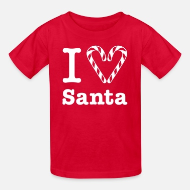 Christmas Gladditudes I Heart Santa (for white) - Kids' T-Shirt