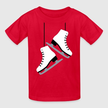 Ice Skate White Skates - Kids' T-Shirt