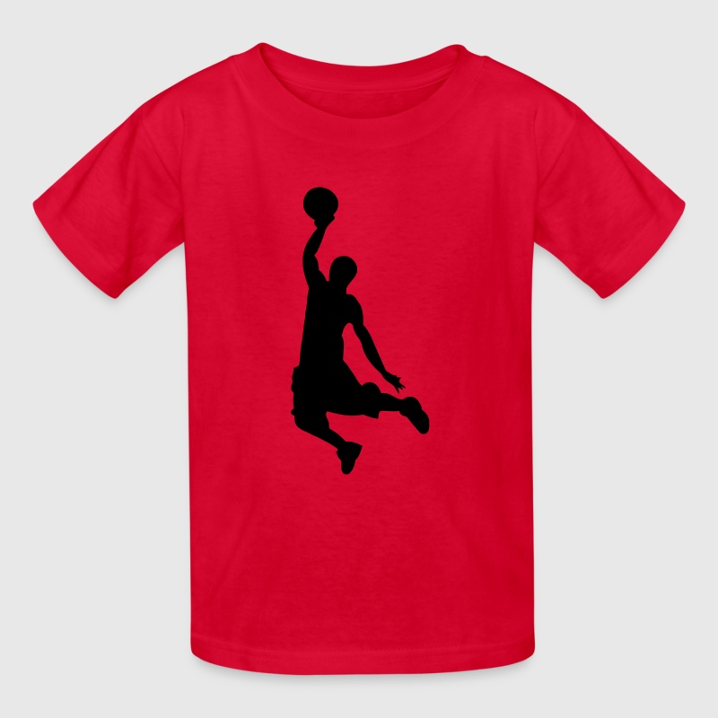 Slam Dunk Basketball Player Silhouette - Kids' T-Shirt