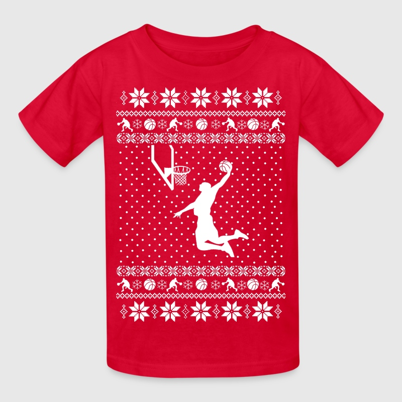 Basketball Xmas Sweater - Kids' T-Shirt