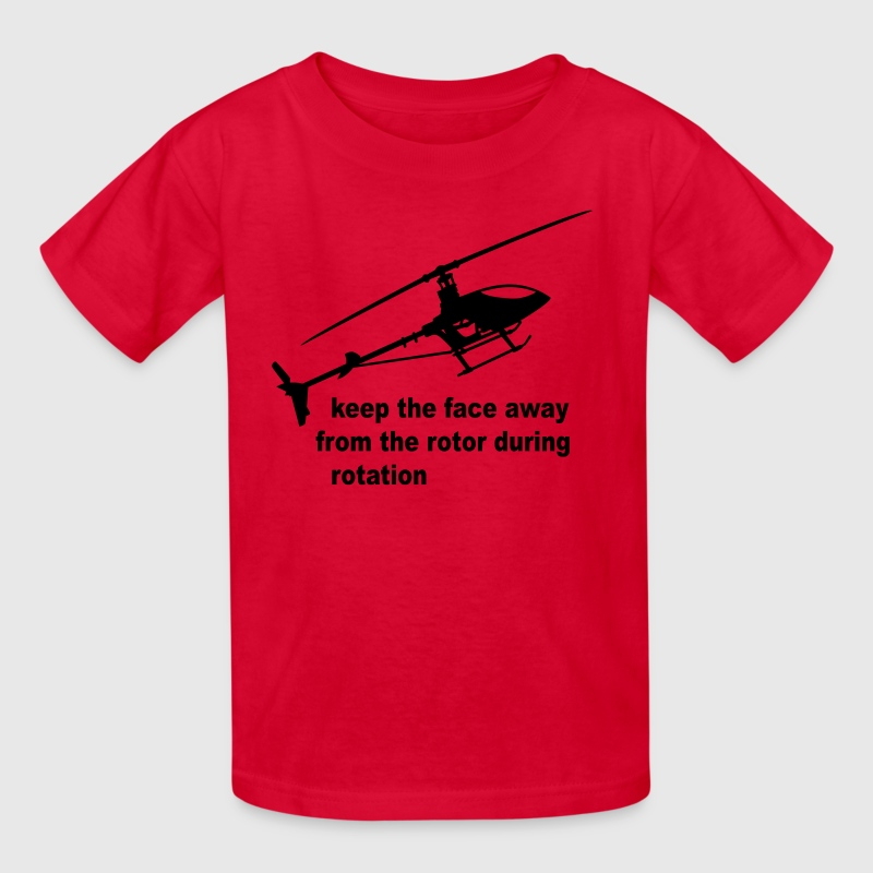 helicopter rotor warning - Kids' T-Shirt
