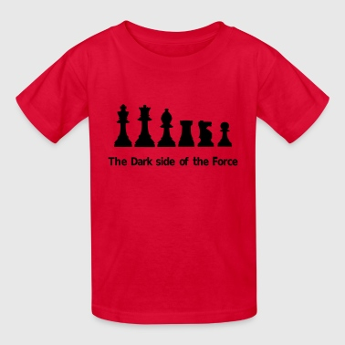 Pawn The dark side of the Force, chess, pawns - Kids' T-Shirt