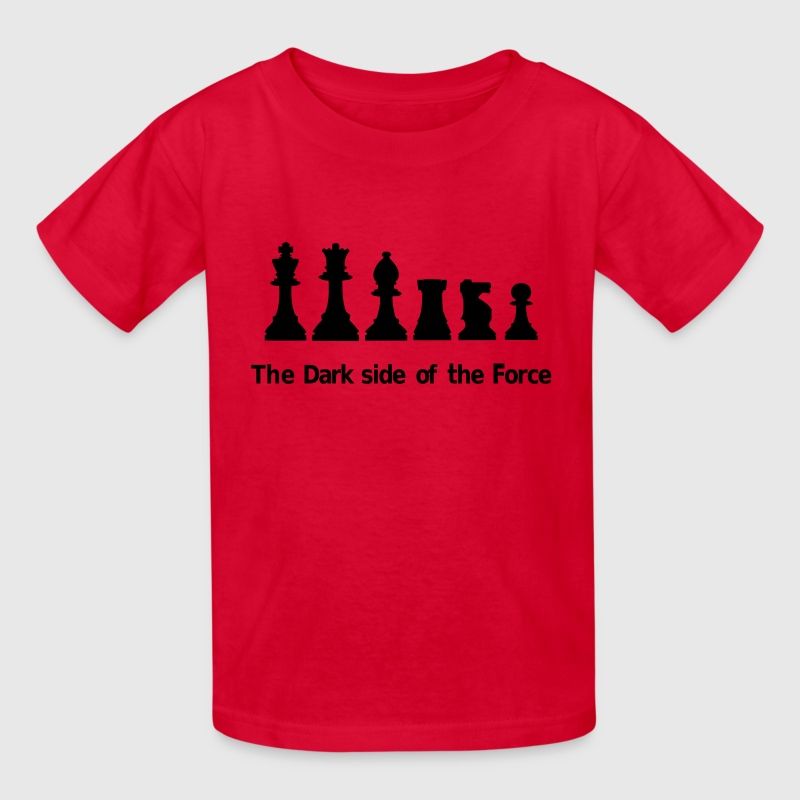 The dark side of the Force, chess, pawns - Kids' T-Shirt
