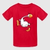 Funny Indian Runner Duck Cartoon - Kids' T-Shirt