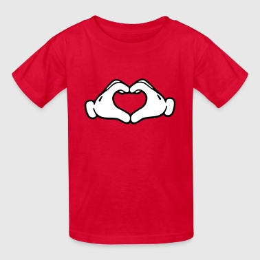 Mickey Mouse Hand Heart Mickey LOVE hands - Kids' T-Shirt