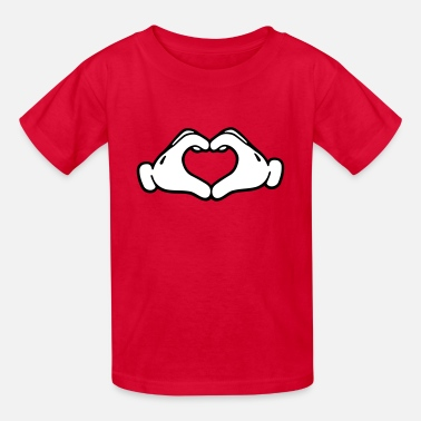 Gloves Mickey LOVE hands - Kids' T-Shirt
